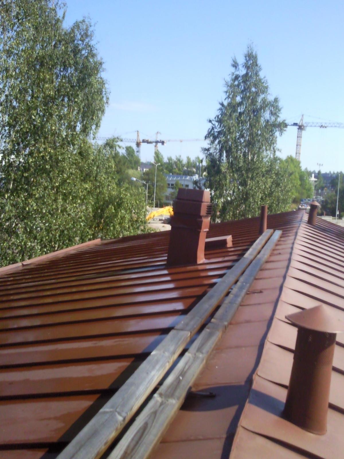 Kattotyöt helsinki vantaa espoo pelkikaton maalaus konesaumakatto katt
